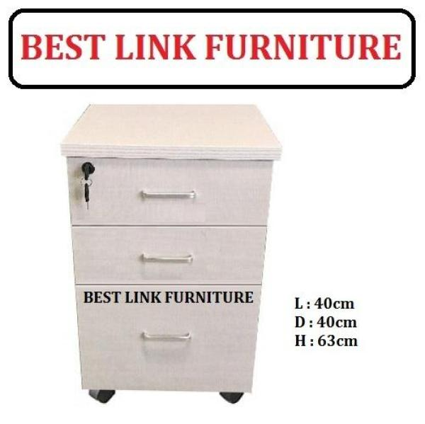 BEST LINK FURNITURE BLF Dicy 3 Drawers Mobile Pedestal