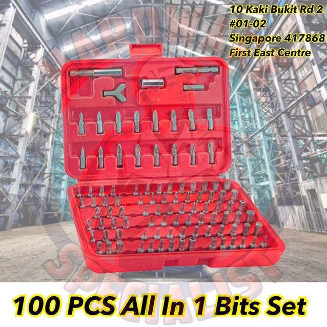 100 Pieces Chrome Vanadium Screwdriver Torq Hex Bit Set (Screw Bit)