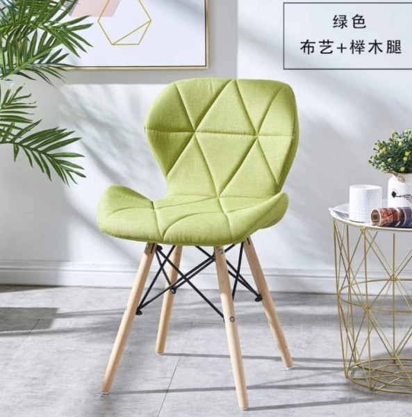 New Design Fabric or PU LEATHER Dining Chair Modern Simple
