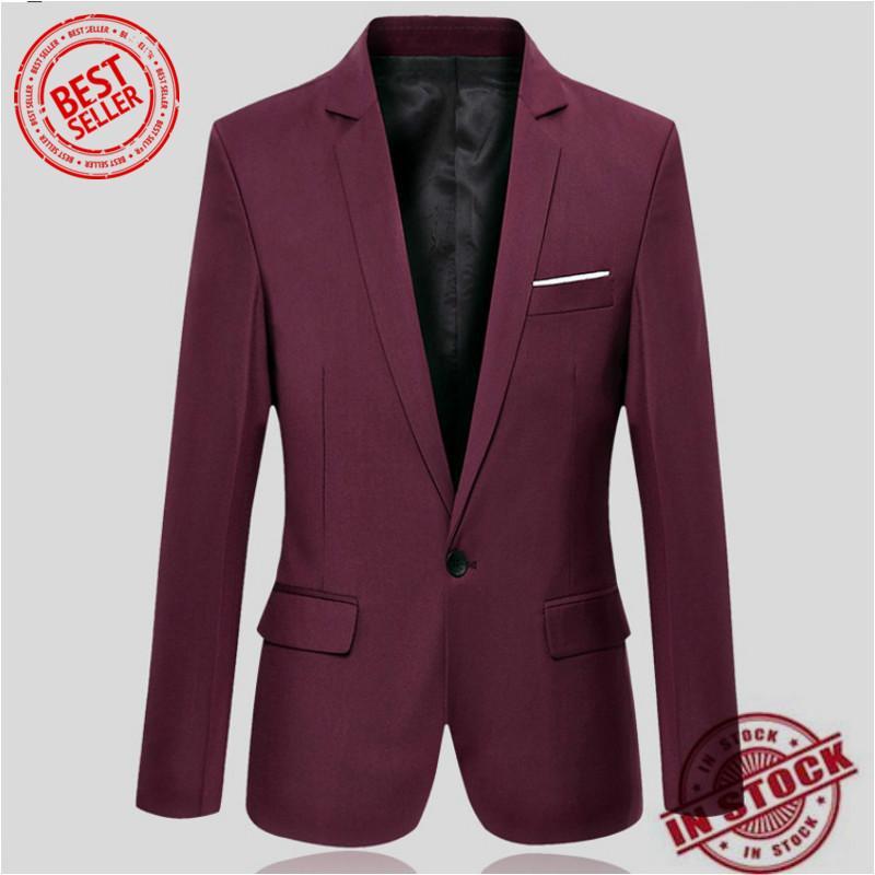 105f489098f High Quality Autumn Clothing Men Costume Jacket Blazer Cardigan Suits  Jackets Coat (Grey)