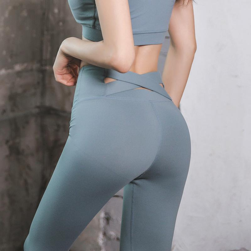 d1e32116f29404 JINXIUSHIRT Yoga Pants Tight Buttock Lifting High-waisted Sports  Quick-Drying Stretch Trousers Gym