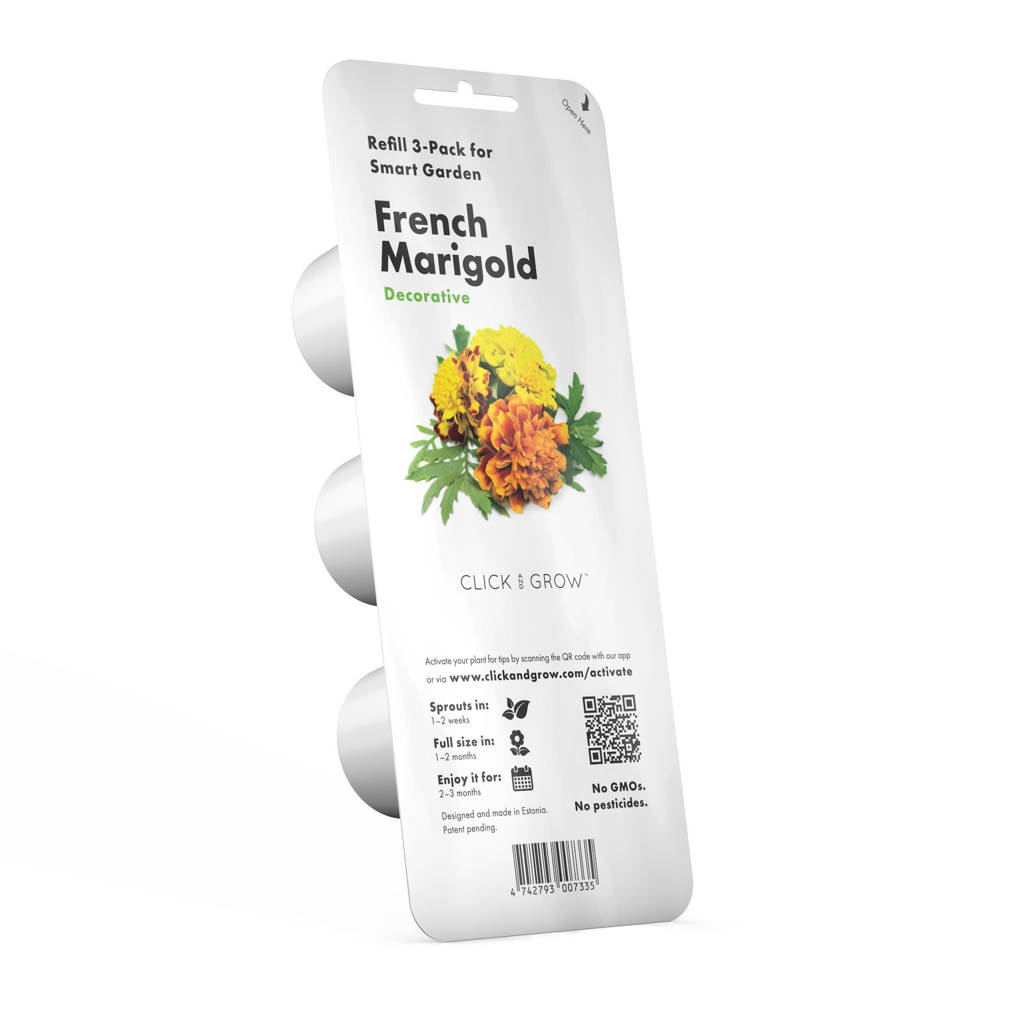 Click and Grow - Refill Pack of 3/smart garden/various choice/100% guarantee success growth/smart soil/natural/green/farmer/no GMO/3 step/flower/vege/herbs