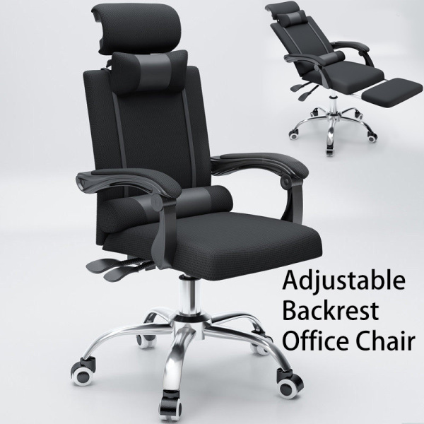 Home Office Chair Boss Manager with Leg Rest Wheel Metal frame Mesh Staff Swivel Roller Study Hip Support SGS Certified Computer Rotatable Adjustable Height [3 Weeks Delivery]