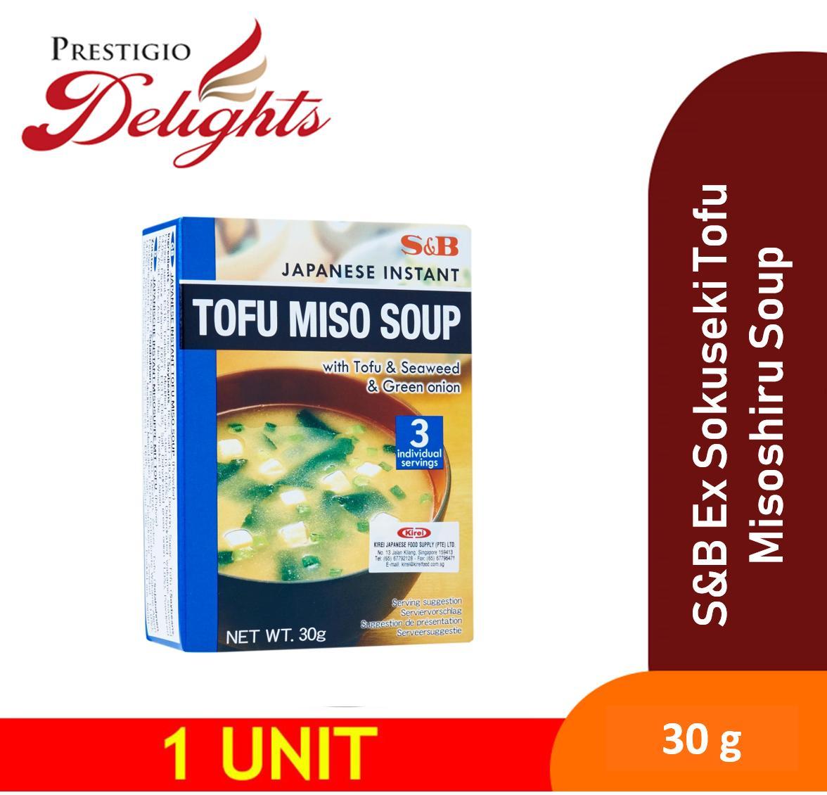 S&b Ex Sokuseki Tofu Misoshiru Soup 30g (tofu & Seaweed & Green Onion) By Prestigio Delights.