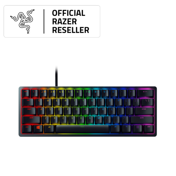 Razer Huntsman Mini - 60% Optical Gaming Keyboard (Clicky Purple Switch) - FRML Packaging Singapore