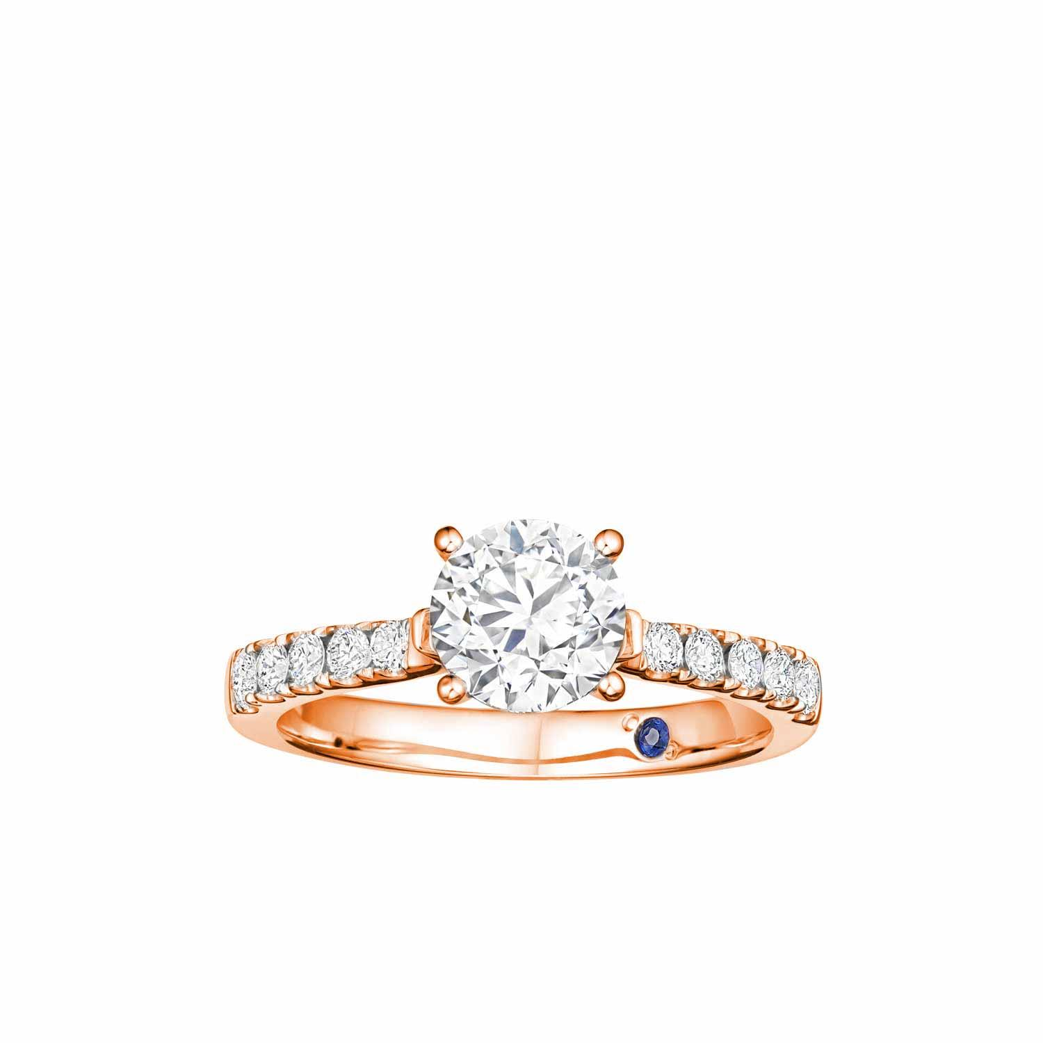 Goldheart Solitaire Diamond 14k Rose Gold Ring By Goldheart.