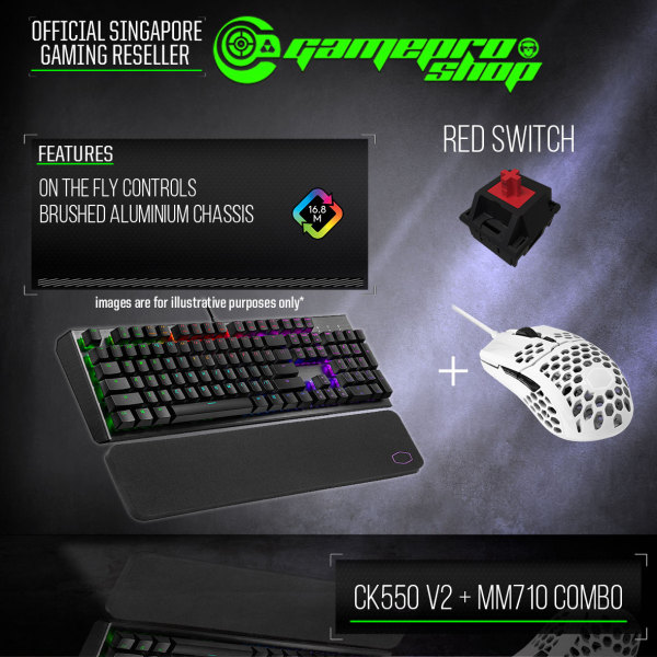 [Promo] CoolerMaster CK550 V2 Keyboard + MM710 Mouse Combo (2Y) Singapore