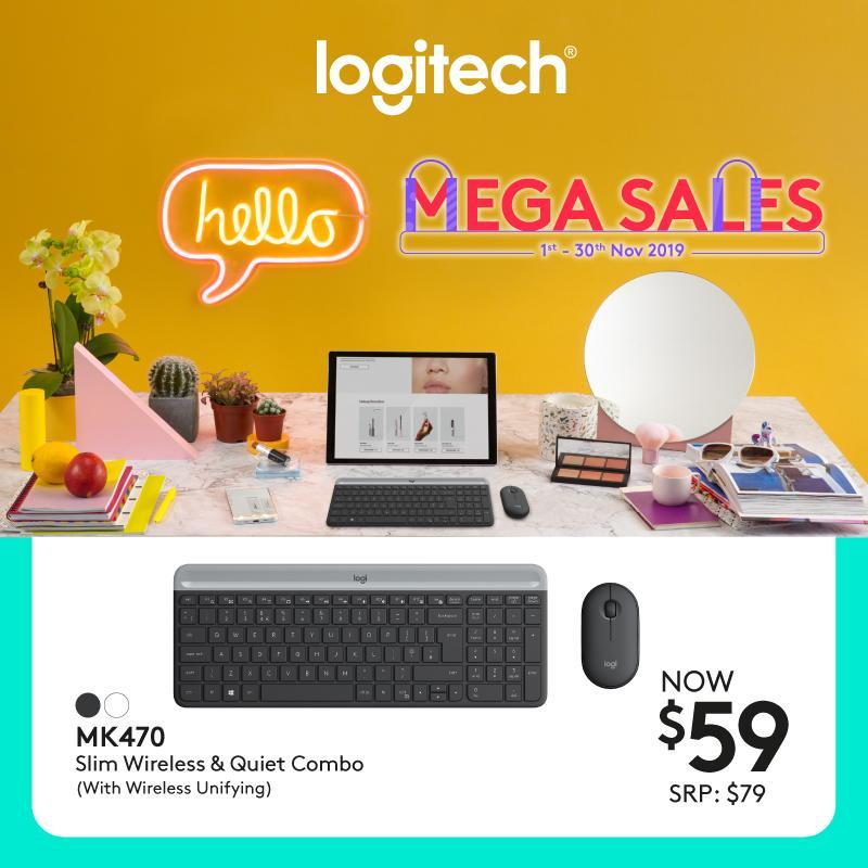 Logitech MK470 Slim, Compact and Quiet Wireless Keyboard and Mouse Combo #LogitechCnPMegaSale Singapore