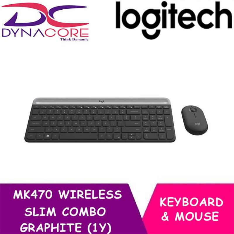 LOGITECH MK470 WIRELESS SLIM COMBO GRAPHITE (1Y) Singapore