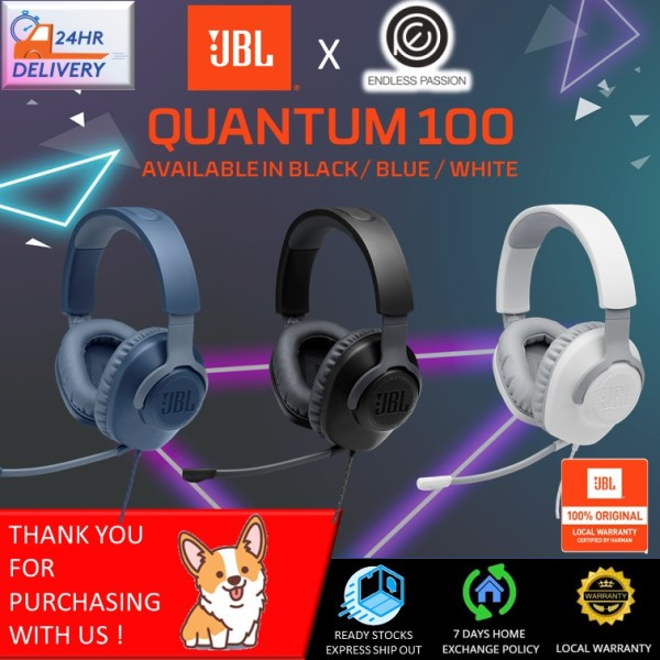 JBL Quantum 100 - Wired Over-Ear Gaming Headphones [24 Hours Delivery] Singapore