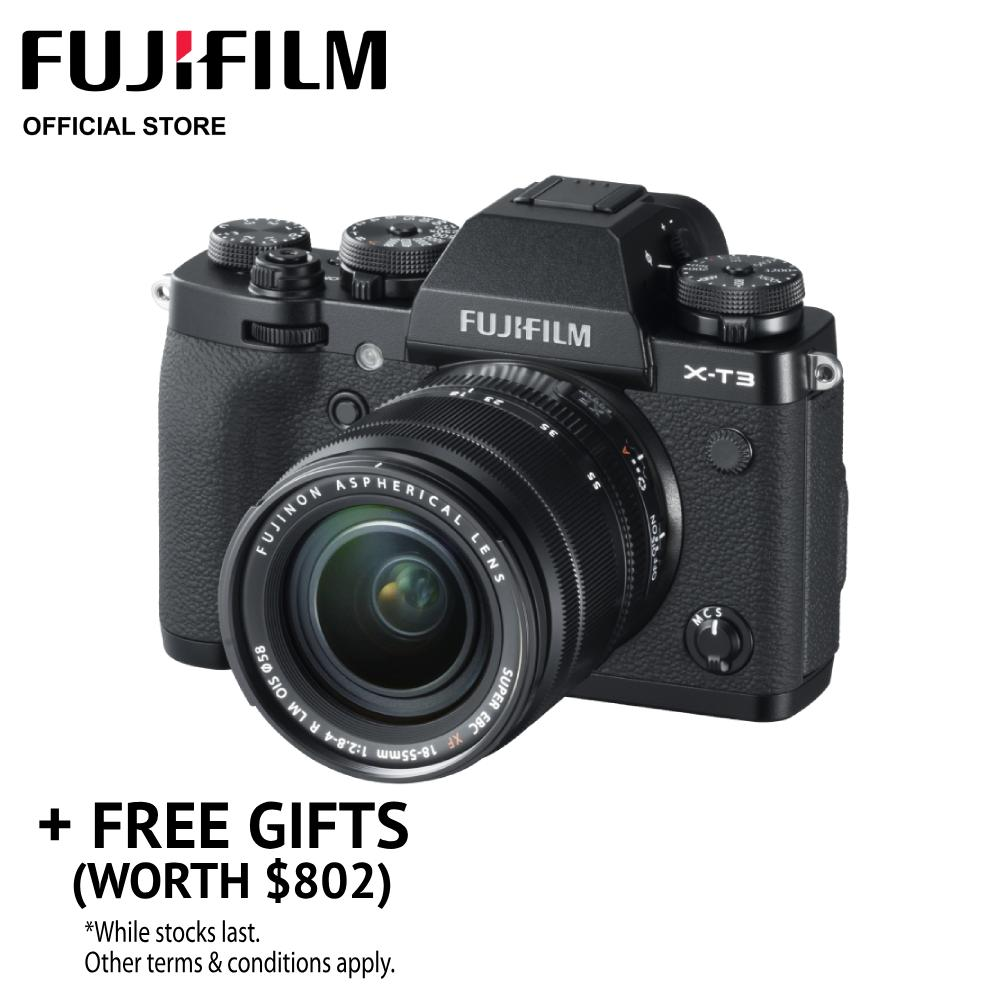 [may Promo] Fujifilm X-T3 Body + Xf18-55mm Kit (free Gifts Worth $802) By Fujifilm.