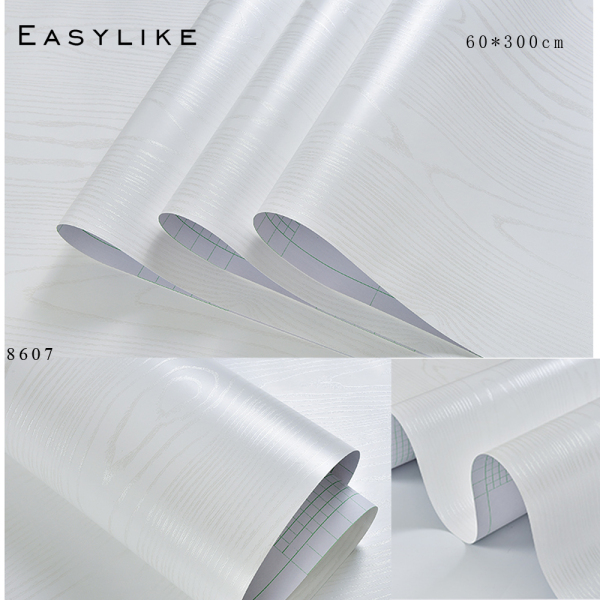 Easylike 60cmx3M adhesive wallpaper thicken Woodgrain Furniture Sticker Cupboard Wall Paper PVC waterproof 023