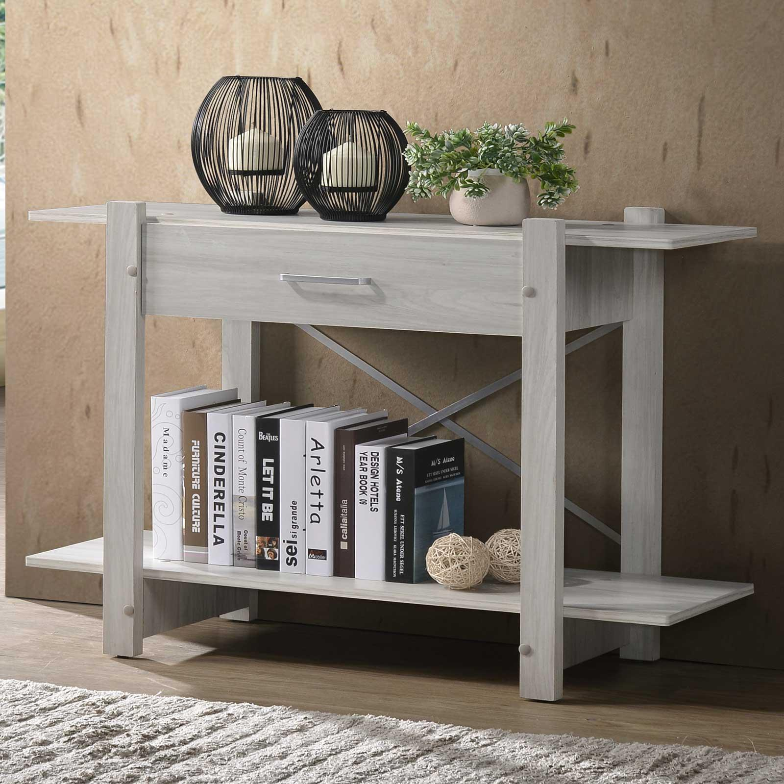 Console Table (Free Installation + Delivery) Hallway Side Table in Light Oak E-LIVING Furniture