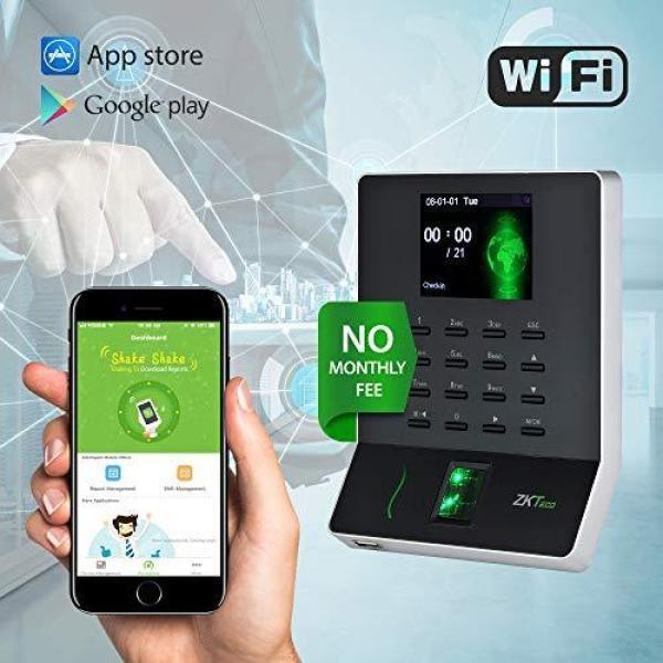ZKTeco WL20 Biometric Fingerprint Time Attendance Terminal Time Clock Attendance Machine Payroll Recorder Employee Checking-in Recorder