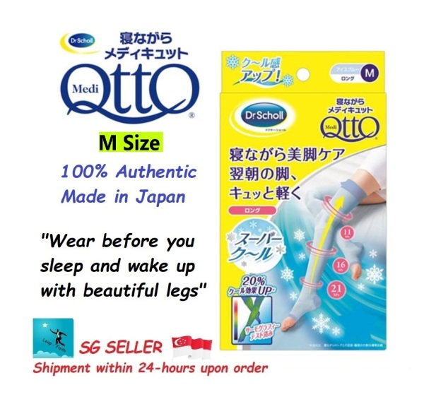 Buy Dr. Scholl Medi Qtto Long Open Toe Super Cool Compression Socks (For Sleeping, M-Size) Singapore
