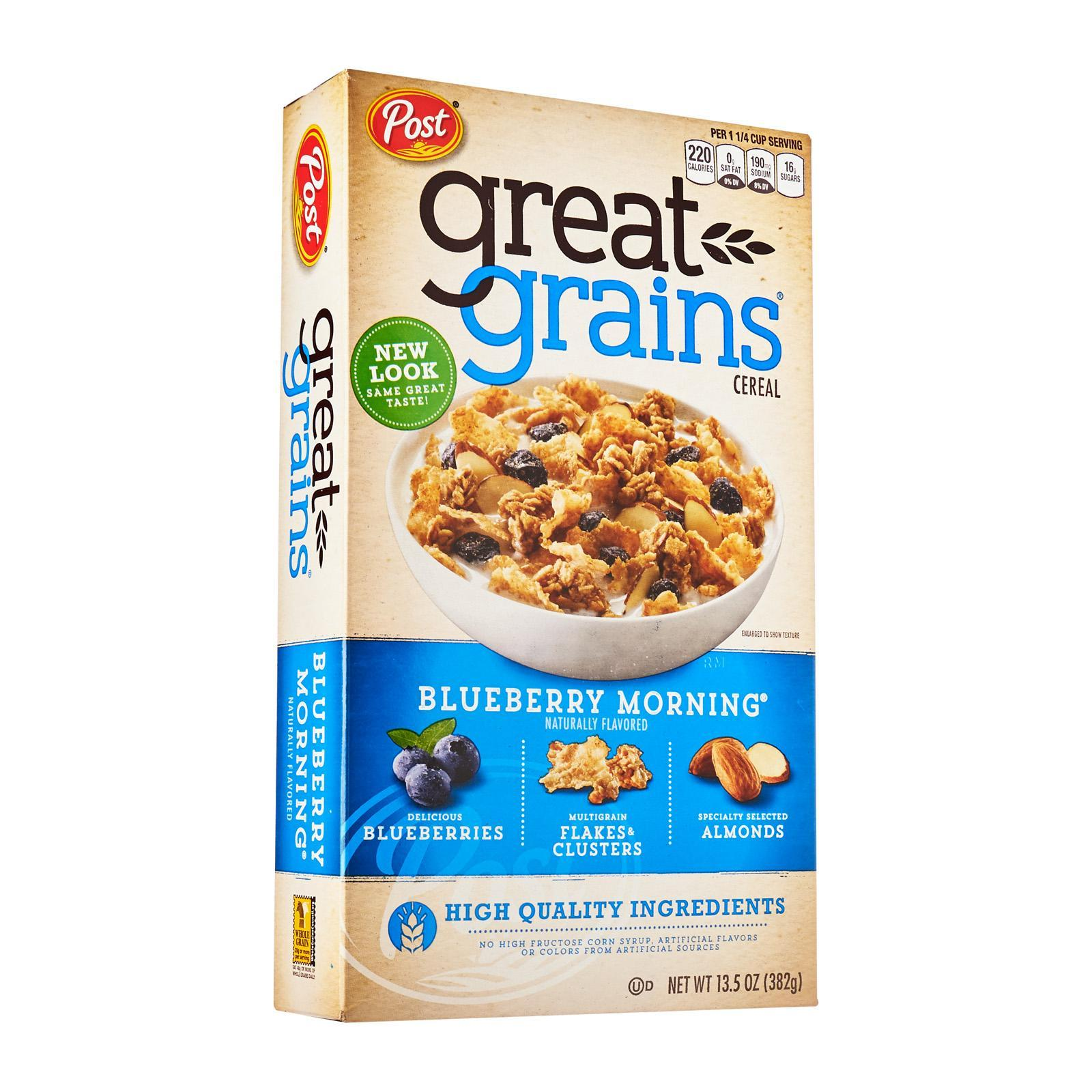 POST Great Grains Cereal - Blueberry Morning 382g