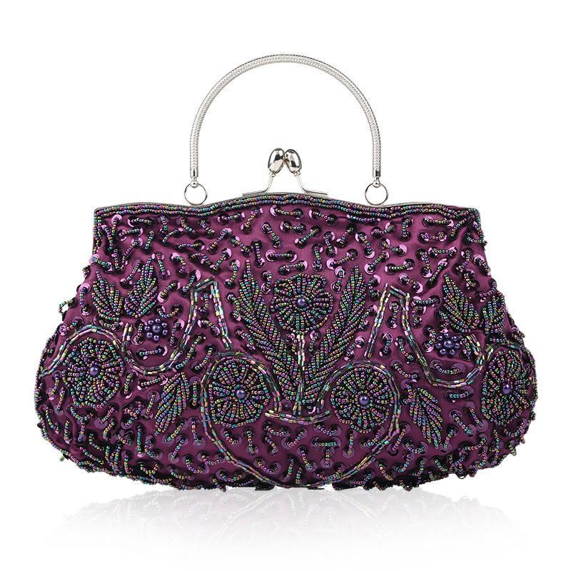 Fashion Handbags Evening Bags Lady Retro Handmade Beaded Embroidered Evening Bag High Grade Wedding Banquet Clutches Bag