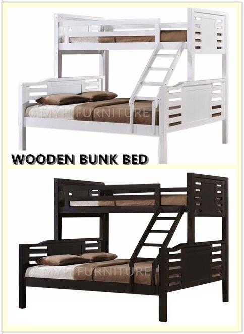 WOODEN BUNK BED QUEEN SIZE /SINGLE SIZE