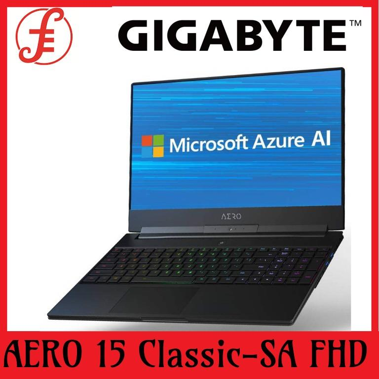 GIGABYTE AERO 15 Classic-SA FHD (i7-9750H/16GB SAMSUNG DDR4 2666 (8GB*2)/GeForce GTX 1660 Ti GDDR6 6GB/512GB INTEL 760P PCIE SSD/15.6 Thin Bezel LG FHD 144Hz IPS/WINDOWS 10 PROFESSIONAL(15 Classic-SA FHD)