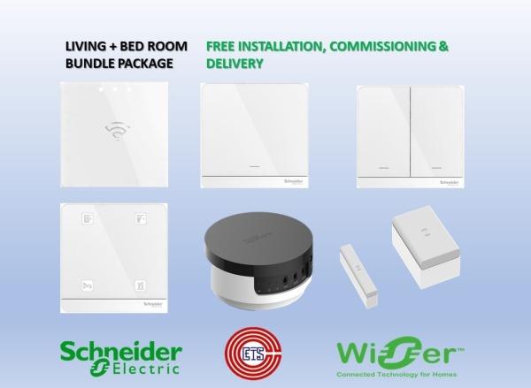 Schneider Wiser Living & Bed Room Bundle Singapore