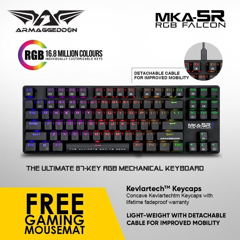 Armaggeddon Mechanical Gaming Keyboard MKA-5R(New) Fully Macro-able Singapore