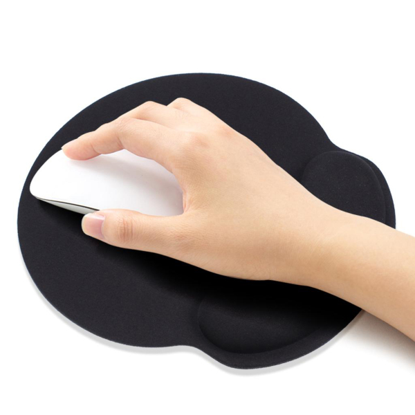 [SG] Memory Foam Mouse Pad with Wrist Support Rest (Black) - Wrist Care MousePad Ergonomic Office Computer Gaming Restpad - Local SG Seller, Fast Delivery!