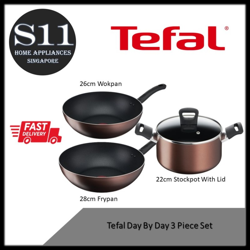 Tefal Day By Day 3 Piece Set Singapore