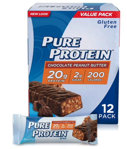 Buy Pure Protein Bars, High Protein, Nutritious Snacks to Support Energy, Low Sugar, Gluten Free, Chocolate Peanut Butter 12 bars Singapore
