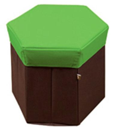 Local Courier Delivery - Foldable / Collapsible Hexagon Ottoman Storage Stool Seat Box (StarzDeals)