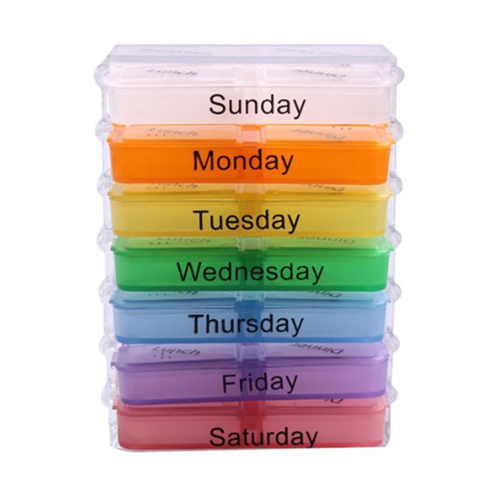 7 Days Medicine Weekly Storage Pill Container (LLS1445) Singapore Seller + 100% Authentic.