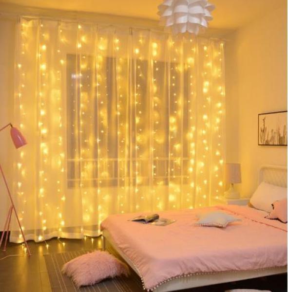 3m x 2m Curtain Fairy Lights 200 Led String Lights Plug