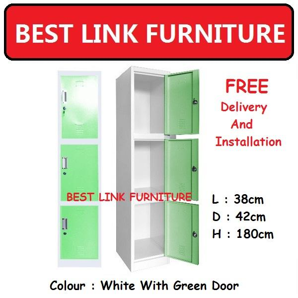 BEST LINK FURNITURE BLF 220 3 Doors Metal Locker
