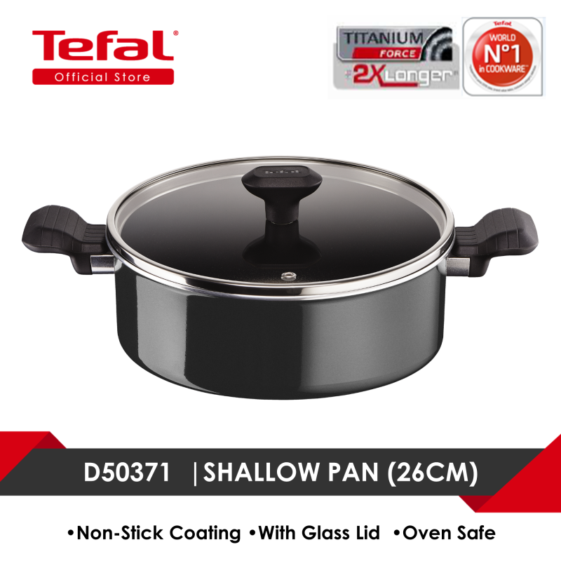 Tefal So Intensive Shallow Pan 26cm w/lid D50371 Singapore