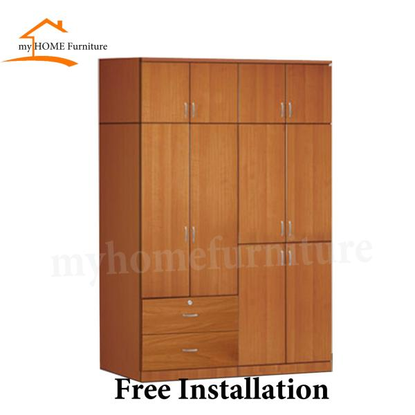 Ethel 5ft 10 Doors With Drawers Wardrobe (Free Delivery and Installation)
