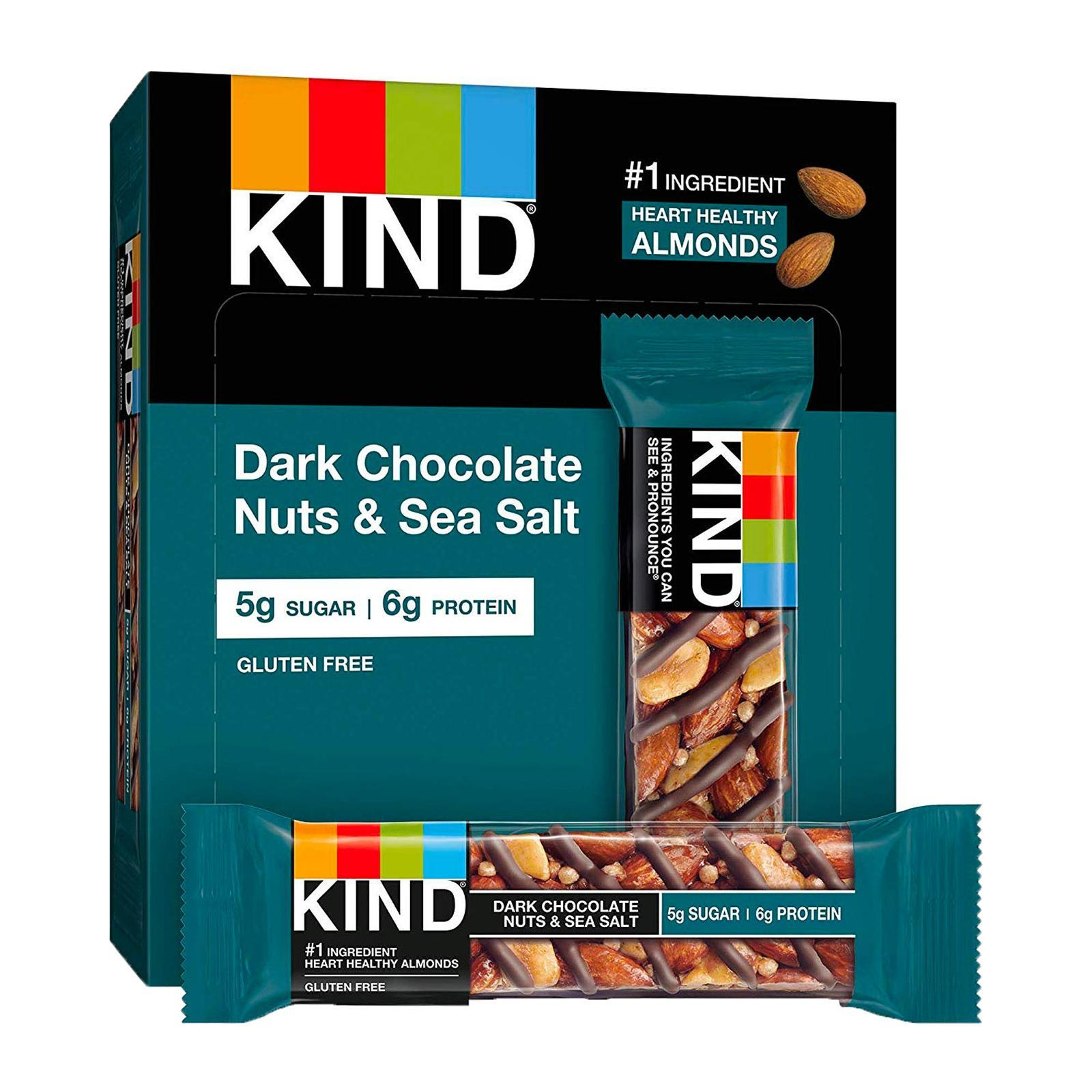 KIND Fruit And Nut Dark Chocolate Nuts And Sea Salt Bar - By Wholesome Harvest