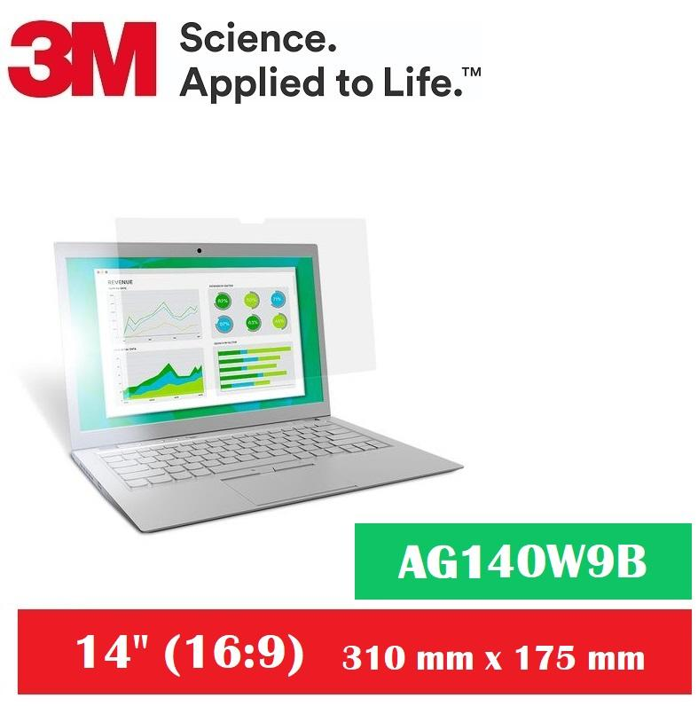3M Anti-Glare Filter for 14 Widescreen Laptop AG140W9B