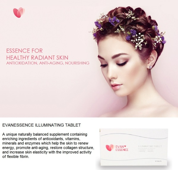 Buy [1 Month Supply] EVANESSENCE Illuminating Tablet -- Anti-oxidant Skin Whitening Pill Post Laser Treatment UV Protect Heal Tomato Extract Licorice Melon Grape Seed Pine Bark L-Glutathione Coenzyme Q10 Hydrolyzed Fish Collagen Singapore