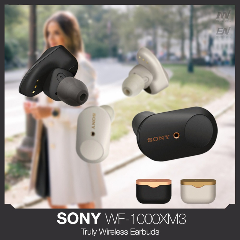 Sony WF-1000XM3 Noise Cancelling Truly Wireless Earbuds with 1 Year Local Warranty WF1000XM3 headset with microphone Singapore