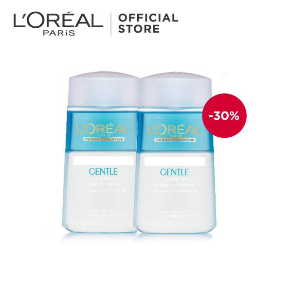 Buy [Bundle of 2] LOreal Paris Lip & Eye Makeup Remover 125ml Singapore