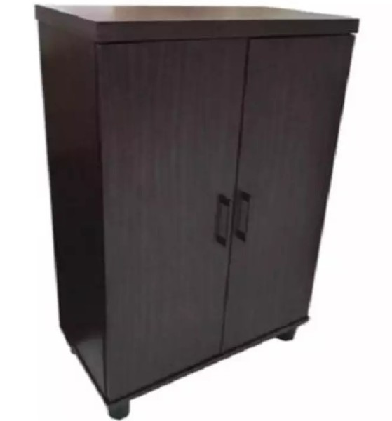 [Furniture Amart] 2 Door Shoe Cabinet in Dark Walnut (FREE INSTALL)