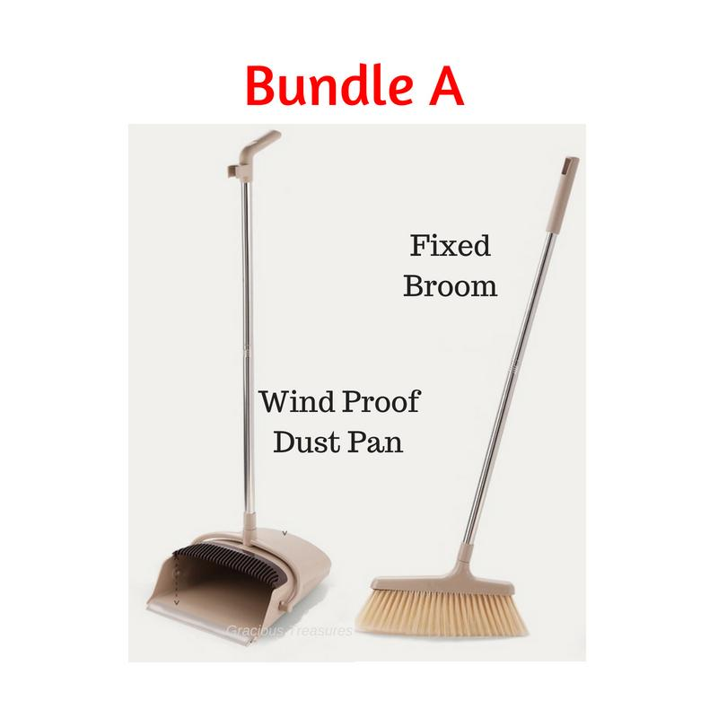 Rotatable Broom And Wind Proof Dust Pan With Broom Comb To Clean Your Broom Rotatable Scraper By Gracious Treasures