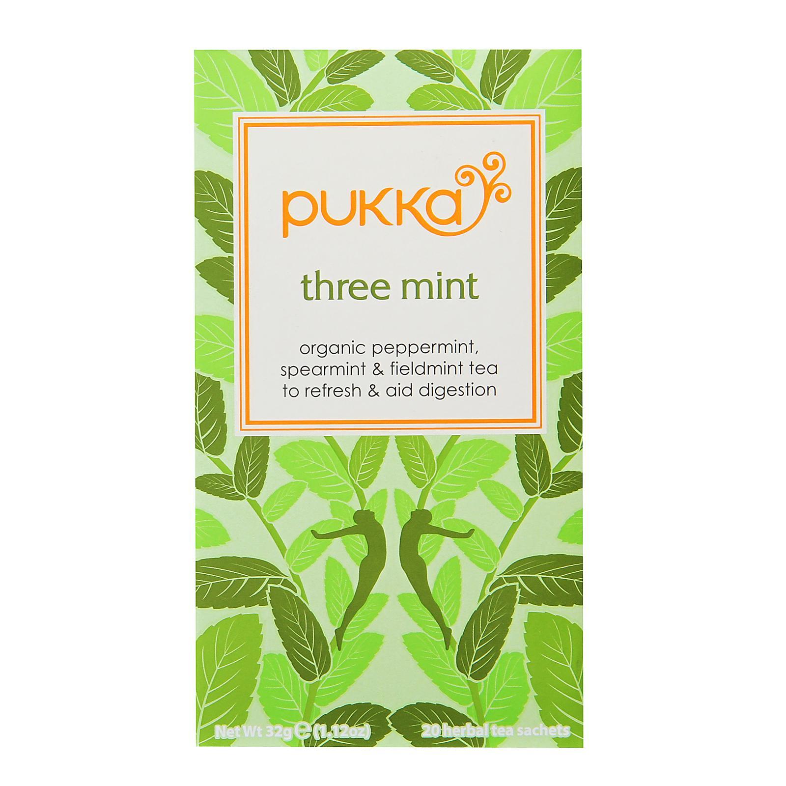 Pukka Organic Three Mint Tea By Redmart.