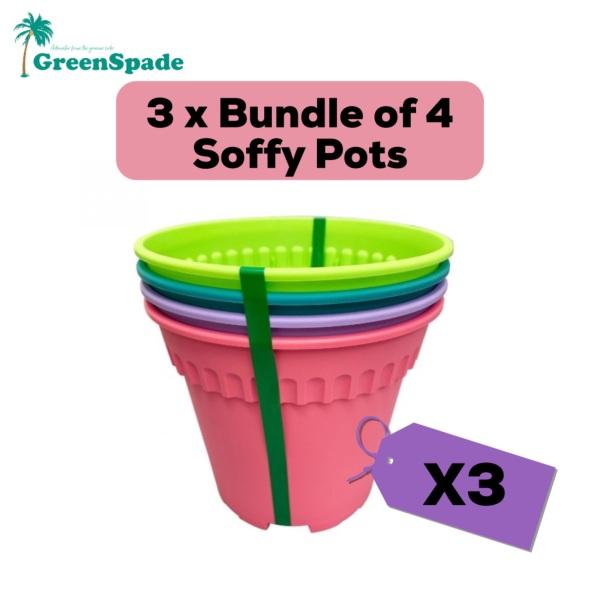 [BUNDLE OF 3] Green Spade-BABA Soffy Series Gardening Plant Pots