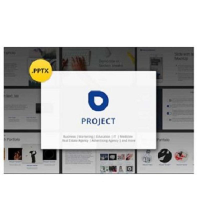 Project Professional PowerPoint Template Student Business Marketing Agency