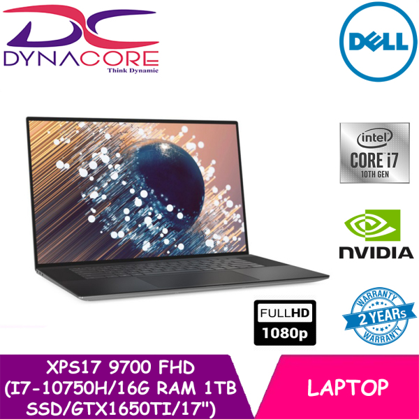 DYNACORE【READY STOCK】 - DELL XPS17 9700 FHD 17 (i7-10750H | 16G 8X2 | 1TB SSD | GTX1650Ti | WIN-10HOME) 2YRS WARRANTY