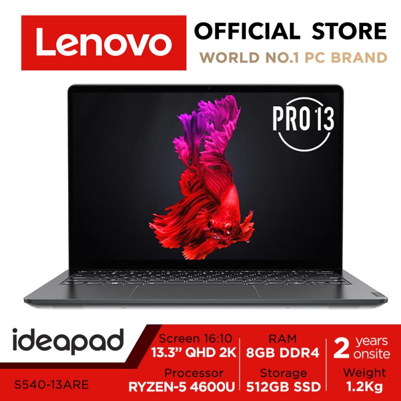 Lenovo ideapad S540   13.3inch QHD 2K   Ryzen 5 4600U   8GB RAM   512GB SSD   1.2Kg   Black color