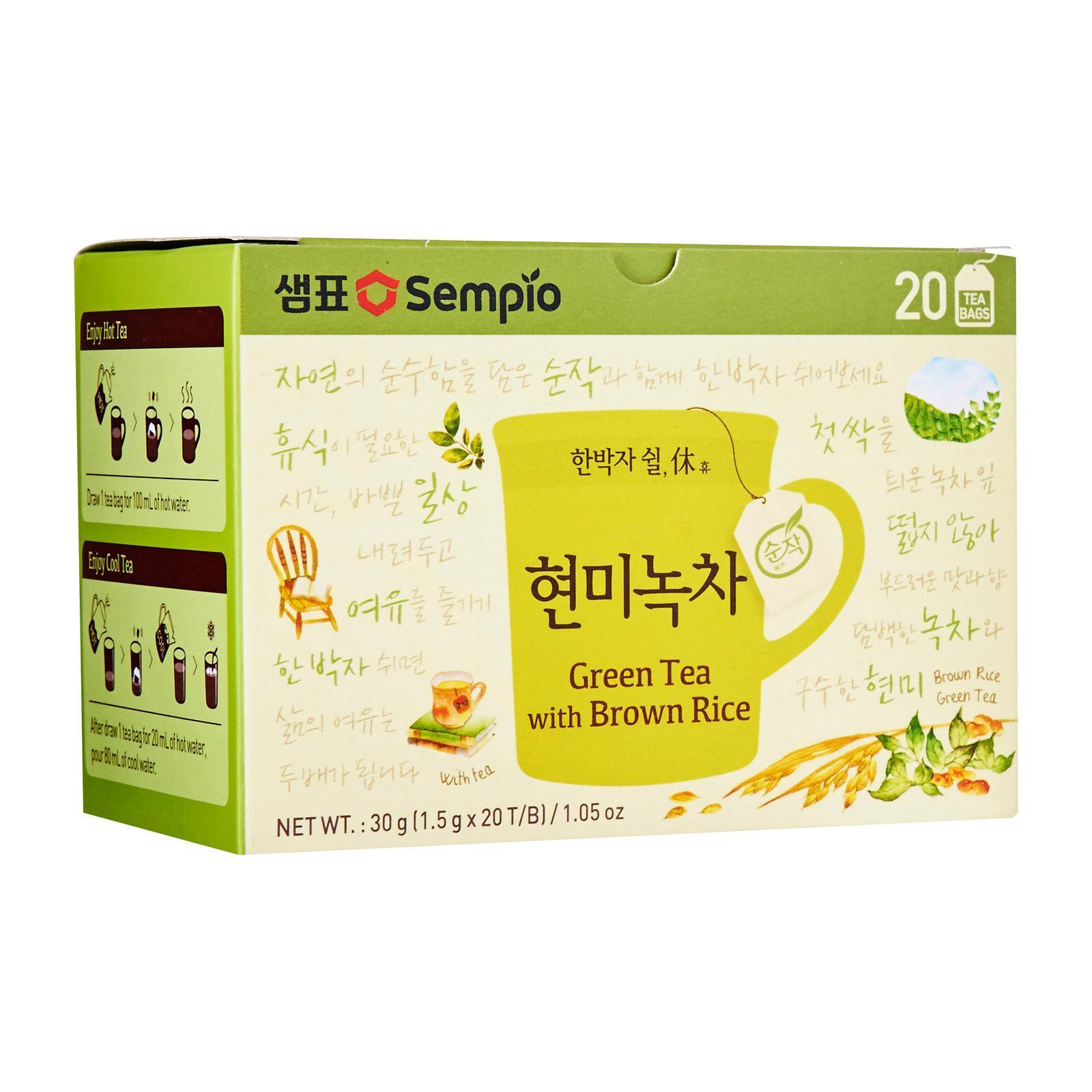 Sempio Green Tea With Brown Rice Tea Bags
