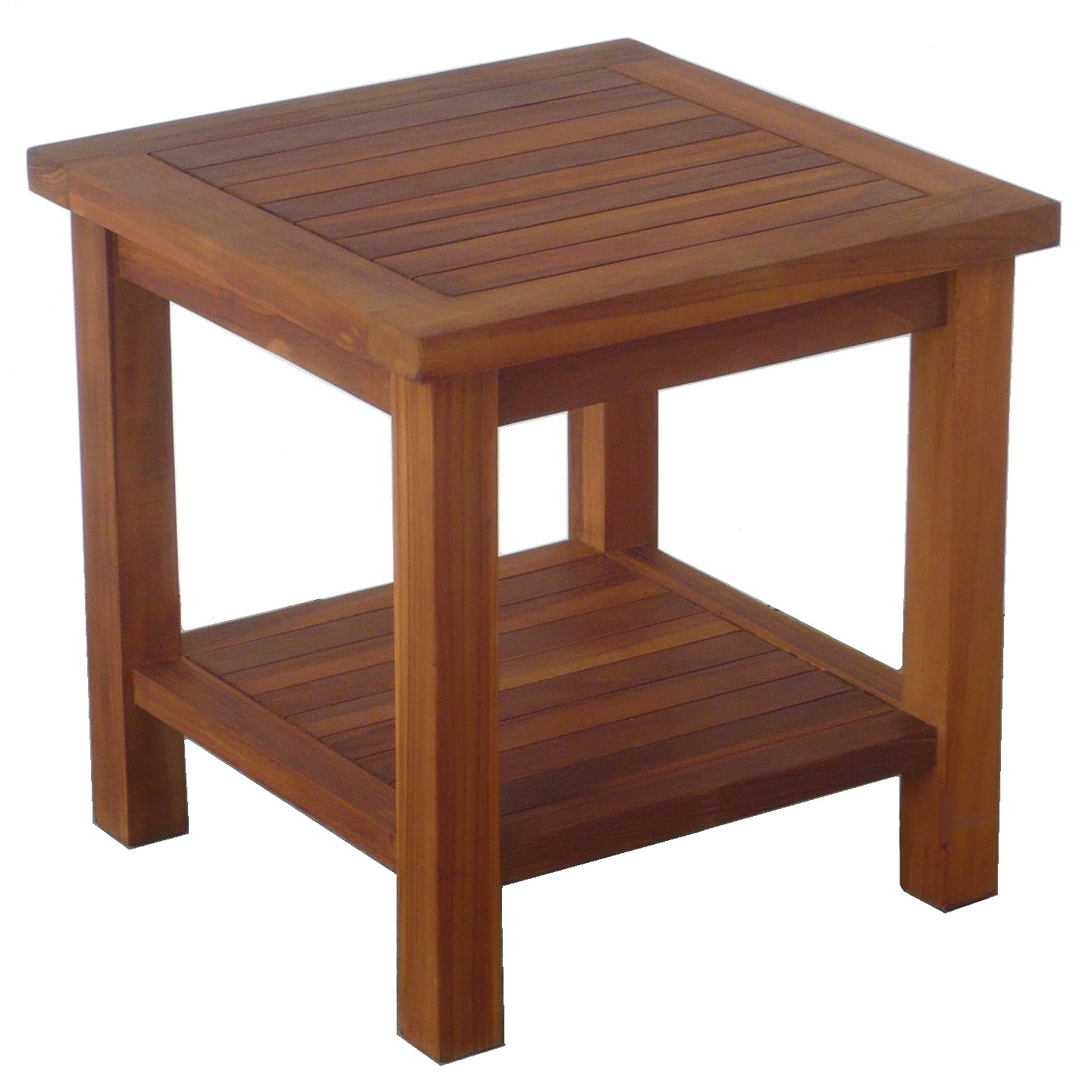 Side Coffee Table. TEAK WOOD Square side Coffee Table – Natural wood colour (W45 x D45 x H45cm)
