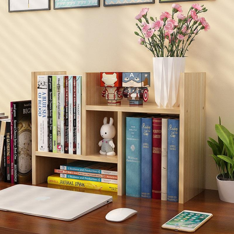 Extension Table Organizer Books Shelf-Ash