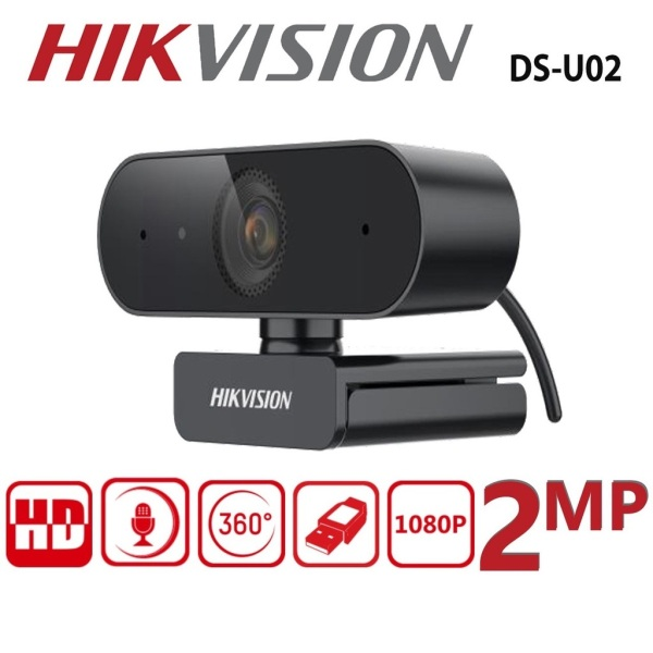 [SG ReadyStock】Hikvision Webcam DS-U02 with Full HD Resolution, Built-In Microphone, Rotatable Cameras Live Video Call